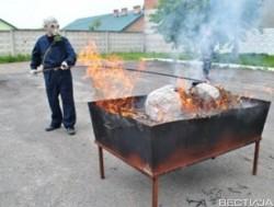 Во Львовской области сожгли наркотики